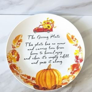 HARVEST BLESSINGS The Giving Plate Ceramic Plate